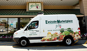 Eastside Marketplace's refrigerated delivery van